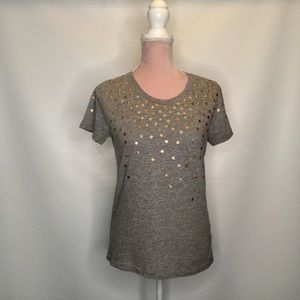 J.Crew top with glittering dots.